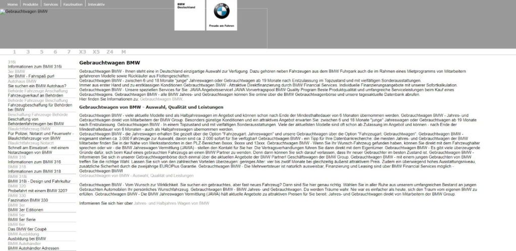 BMW Doorway Pages